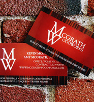 McGrath Woodworks Business Cards